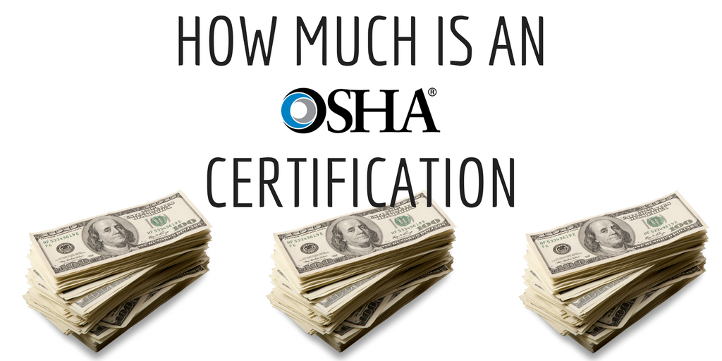 How much does OSHA cost