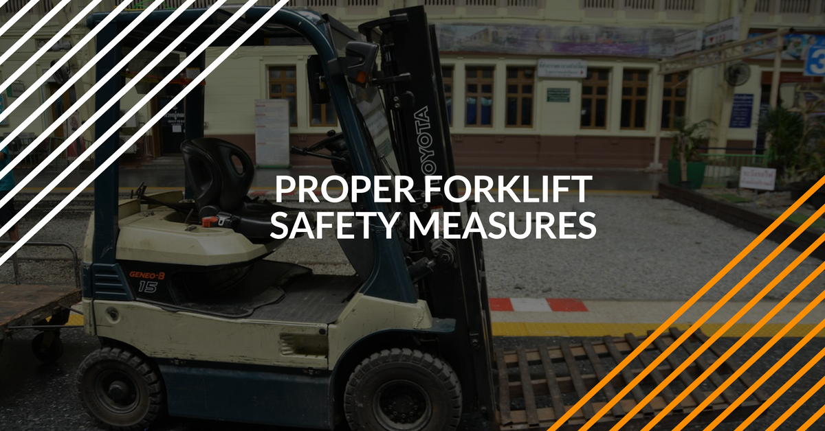 Use a forklift safety harness to avoid accidents and injuries