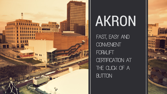 akron forklift certification
