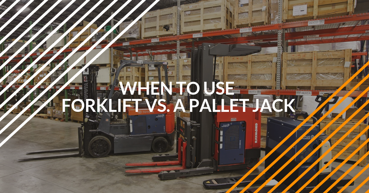 When to Use a Forklift Vs. a Pallet Jack