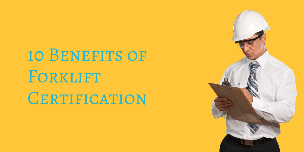 benefits of forklift certification