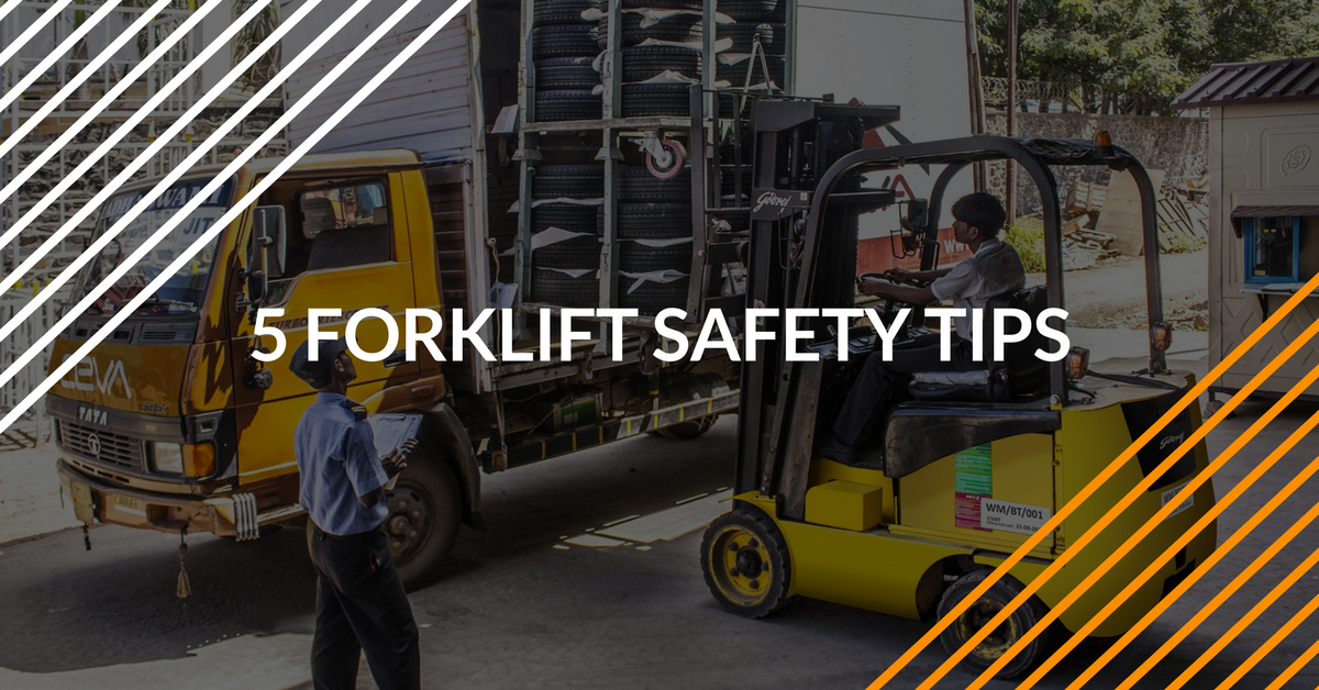 learn 5 forklift tips to improve worker safety