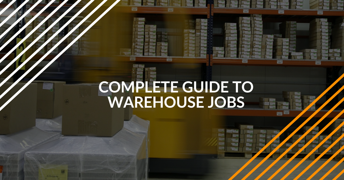 learn about all the different kinds of warehouse jobs