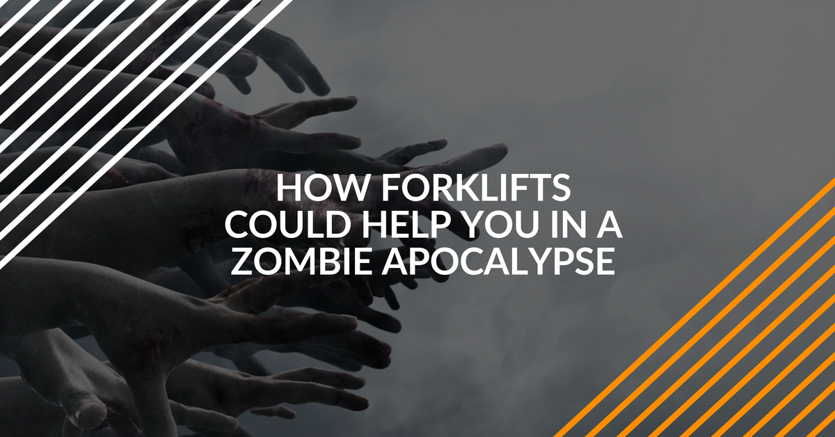 use forklifts to survive a zombie apocalypse