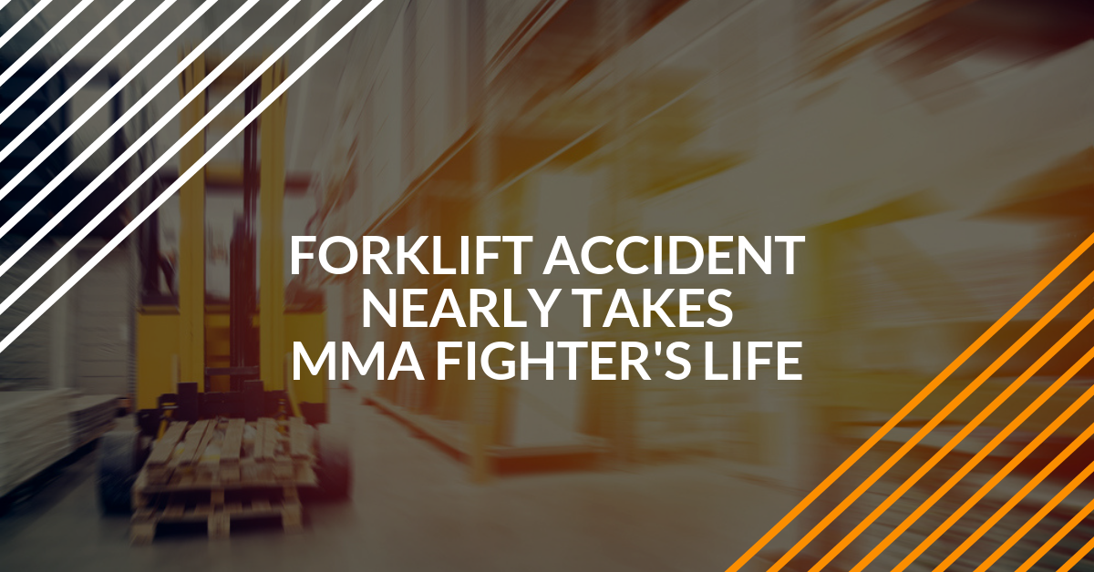 forklift accident nearly takes MMA fighter's life