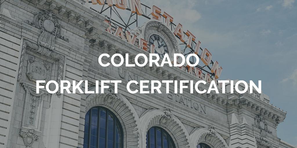 forklift certification colorado